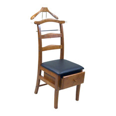 Proman Products - Proman Products Manchester Chair Valet in Light Walnut - Clothing Valets and Suit Stands