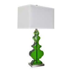 Dillman 1 Light Table Lamp, Emerald And Nickel