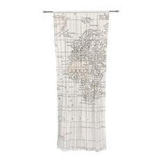 Old World Map Curtains Houzz