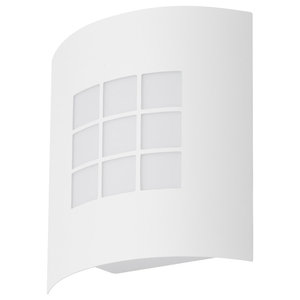 Promo Curved Frame White Outdoor Wall Light