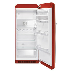 50's Retro Style Aesthetic Refrigerator, Red, Right Hand Hinge