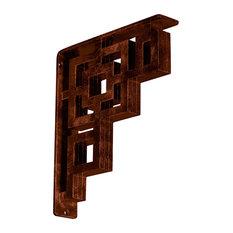 """10""""D x 12""""H Eris Iron Bracket, Triple, Antiqued Copper"""