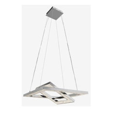 "Elan Lighting Crushed Ice - 27.5"" 96W 480 LED Square Pendant"