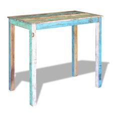 vidaXL Bar Table Solid Reclaimed Wood, 115x60x107 cm