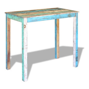vidaXL Bar Table Solid Reclaimed Wood, 115x60x107 cm