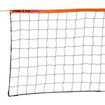 "Park & Sun Sports - Steel Cable Top Volleyball Net - Park & Sun Sports offers a recreational volleyball net with steel cable top. Regulation size 3' x 32' with a 1-1/2"" orange top tape, braided sides and bottom with steel cable top. Lever ratchet may be needed and is not included."