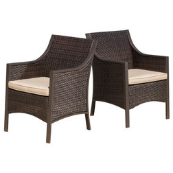 Tropical Outdoor Dining Chairs by GDFStudio