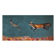 """""""The Chase"""" Canvas Wall Art by Eli Halpin, 36""""x18"""""""