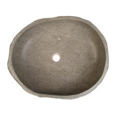 Eden-Roc Riverstone Small Vessel Sink, 40 cm