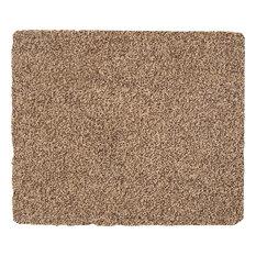 Medium Solid Cotton Rug, Beige, 75x60 cm