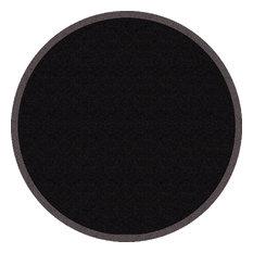 Round Clean Keeper Doormat, Black