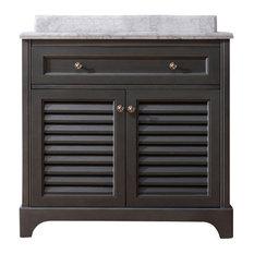 Ari Kitchen U0026 Bath   Madison Solid Wood Bathroom Vanity, Maple Gray, Single,