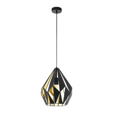 Carlton Black and Gold Pendant Light