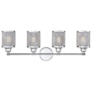 Salvador 4-Light Bath Bar, Polished Chrome