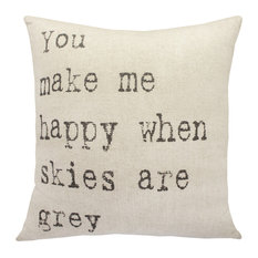 TheWatsonShop - Grey Skies Throw Pillow - Decorative Pillows