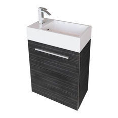 contemporary bathroom vanity. Cutler Kitchen  Bath Boutique Space Saver Wall Mounted Floating Vanity Wood Grain Contemporary Bathroom Vanities Houzz