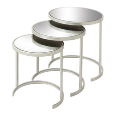 Well-Designed Metal Mirror Act Table, Set of 3