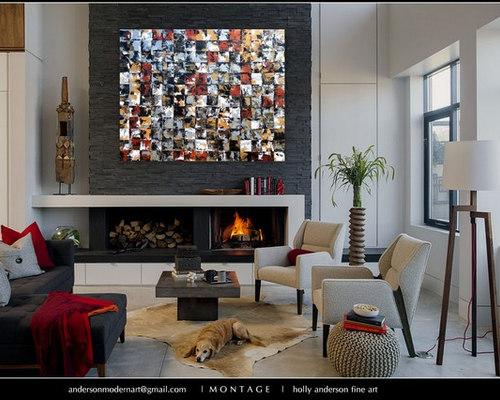 large wall paintingsOriginal Painting Large Wall Art Modern Mosaic Tile Painting 48x60