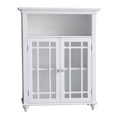 Wooden Bathroom Floor Cabinet 2 Doors 7466