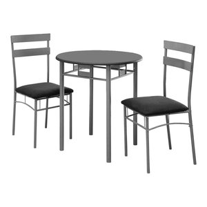 Cheap Quincy 5 Piece Solid Wood Dining Set Black And
