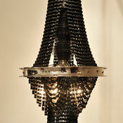 Reclaimed Metal and Bicycle Chandelier by Facaro