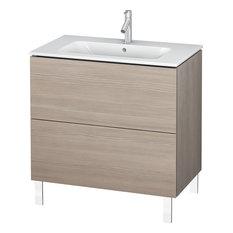 Duravit L-Cube 32 1/4-inchx19-inch Floor Standing Vanity Unit Pine Silver
