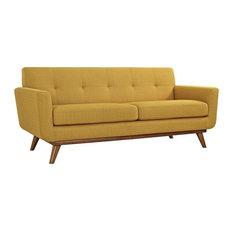 Griffon Upholstered Fabric Love Seat/Citrus