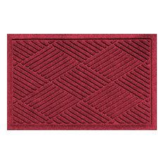 Outdoor Doormat, Diamonds, Dark Red
