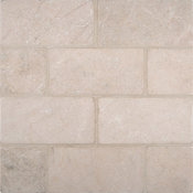 Crema Marfil 3x6 Subway Tumbled, Set to Cover 30