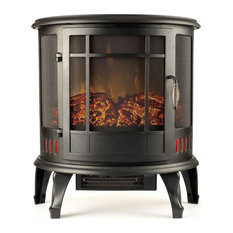 """22"""" Heater Vent Free Curved Electric Fireplace Stove"""