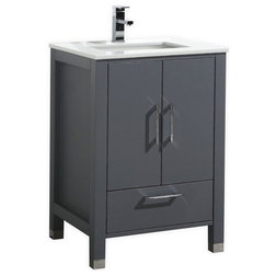 Fancy Contemporary Bathroom Vanities And Sink Consoles by Kubebath