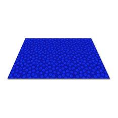 Spots Abound Blue On Blue Rug