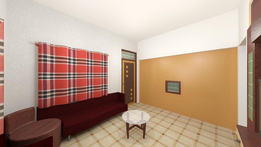 Drawing room 3D Render Design View 2