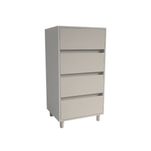 Tallboy 4 Drawer Chest with Soft Close, Cashmere
