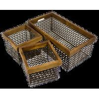 Sagebrook Home Set Of 3 Wire Baskets AM10351-01