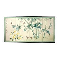 36 in. Tall Bamboo & Five Birds Wall Art