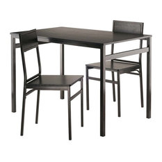 Pemberly Row 3 Piece Dining Set in Antique Bronze and Black