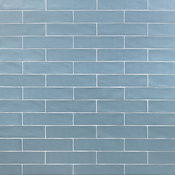 "Strait 3""x12"" Ceramic Subway Tile, Gray, Sky"