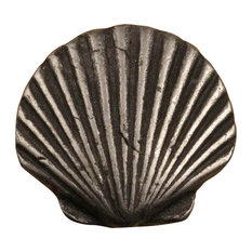 Shell knob, Set of 10, Bronze with Verde