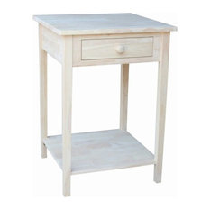 Pemberly Row Unfinished 1-Drawer Hampton Bedside Table