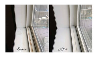Before-After Window Tracks and Windowsills