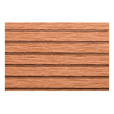 "Rubber Flooring Inc Helios Deck Tiles, 6 Slat,  12""x12""x3/4"" 11-Pack, Red"