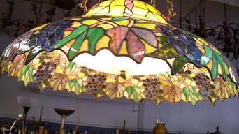 Giant Stained Glass Lamp