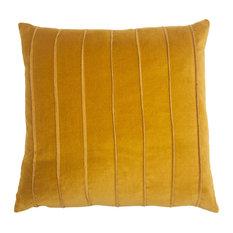Cannes Yellow Velvet Band 20x20 Pillow