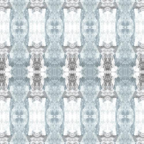 "Sharon Holmin Interiors - Tribal Totem Stripe Gray Peel and Stick Wallpaper, 12""x12"" Samples - Wallpaper"
