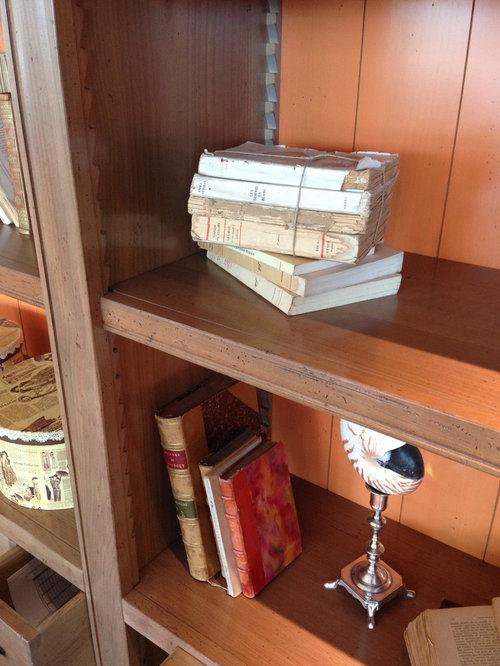 Salone con libreria ciliegio hauteville di roche bobois for Libreria roche bobois
