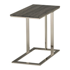 WHI   Accent Table Gray Reclaimed Look/Brushed Nickel   Side Tables And End  Tables