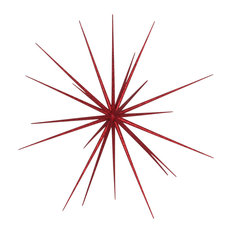 """23"""" Starburst Ornament With Red Glitter"""