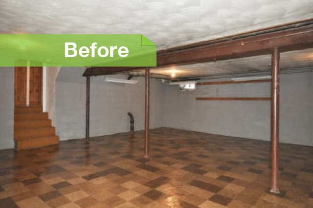 traditional by christina katos - Cost To Finish Basement