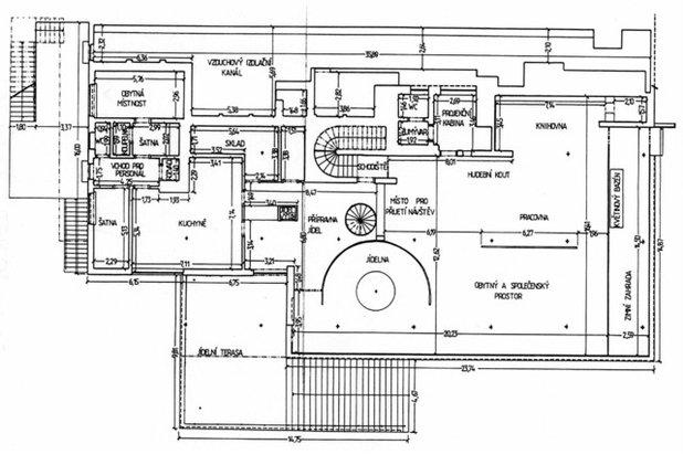 Mediterranean Floor Plan Villa Tugendhat